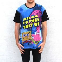 FULL PRINT SPONGEBOB FUCK SHIT UP TEE