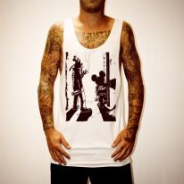 PUNK MICKEY WHITE SINGLET