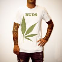 BUDS LEAF WHITE TEE
