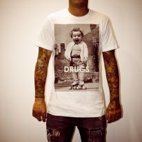 DRUGS WHITE TEE