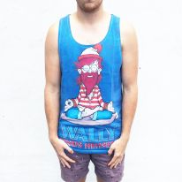 FULL PRINT WALLY FOUND SINGLET