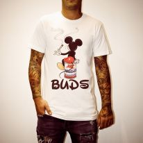 MICKEY BUDS WHITE TEE