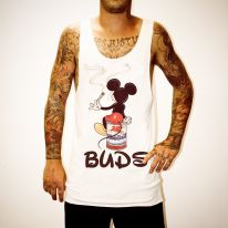MICKEY BUDS WHITE SINGLET