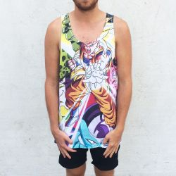 NEW DBZ FULL PRINT SINGLET