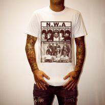 N.W.A WHITE TEE