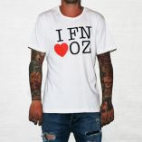 FN LOVE AUS WHITE TEE