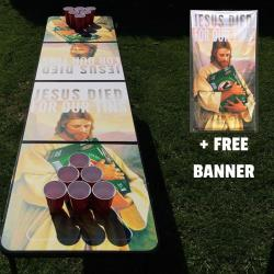 FOR OUR TINS BEER PONG TABLE + FREE BANNER